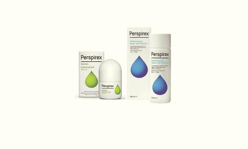 パースピレックス(Perspirex)は、特許処方により長時間効果が持続する新しいタイプの制汗剤です。 汗を抑えたい部位(ワキ、手、足)に塗布すると、汗腺内の水分に反応。汗腺深部に角栓を作り「フタ」をすることで、発汗を物理的に抑制します。これまでの制汗剤・デオドラント剤は効果の持続時間が短いため、外出中・仕事中・スポーツ活動の最中に制汗効果が薄まってしまいます。