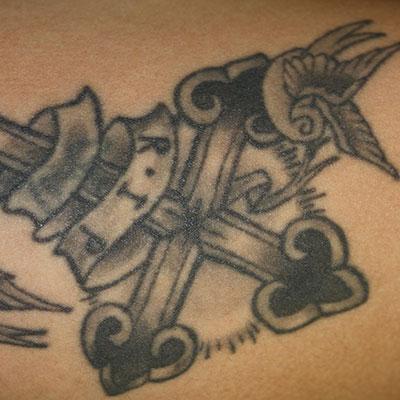 単色タトゥー